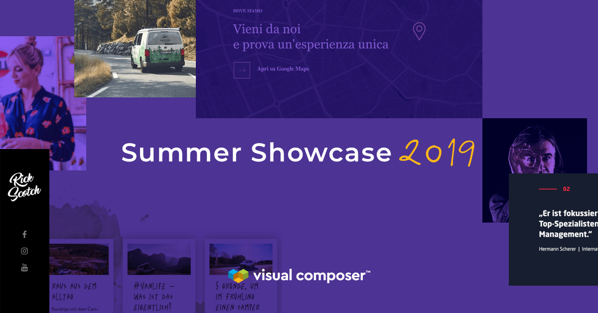 Visual Composer Summer Showcase 2019